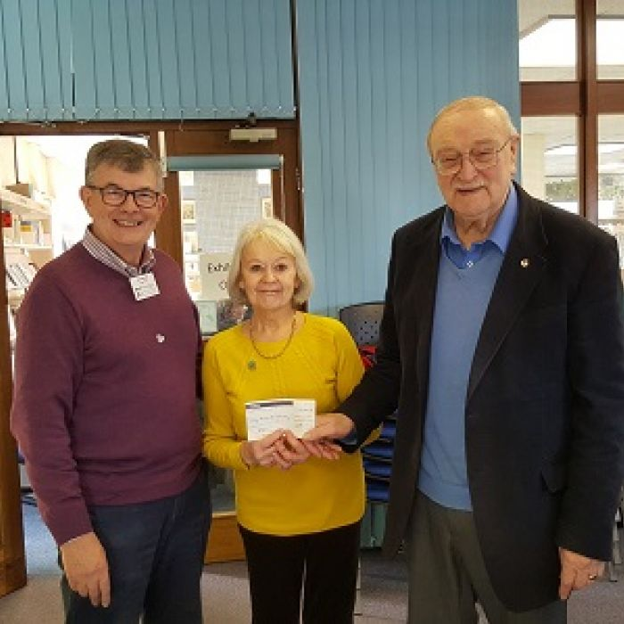 PROBUS Club of Alsager gift to Dementia Friendly Community Fund